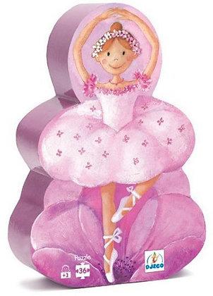 Puzzel 'La ballerine à la fleur' 36 pcs - Djeco