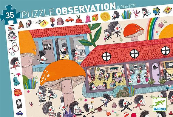 Puzzle d'observation l'école des hérissons  - Djeco