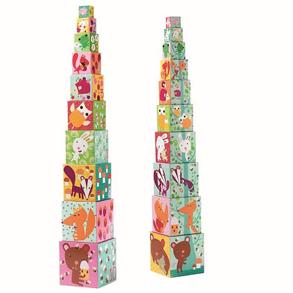 Cubes foret empilables - Djeco