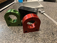 Red and Green aluminum anodized parts.