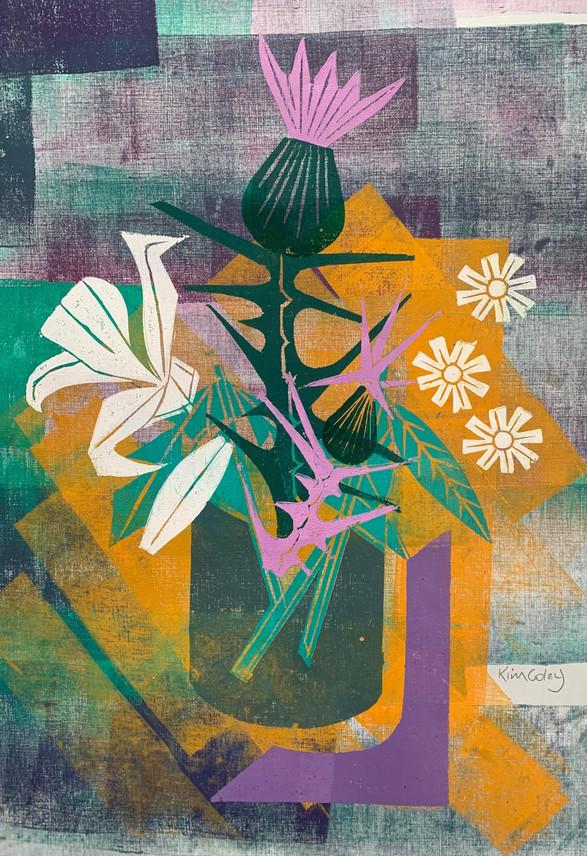 Floral Riffs: Thistle 4
