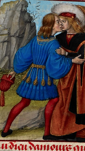 Adieu d'amours, BL, Harley MS 4425, ca 1