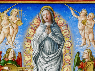 The angel-orchestra of the Sforza Hours - 1