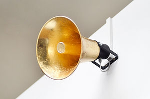 Artwork, sound, art, installation, VOID, gold, speaker, announce