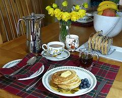 Breakfast in the Scottish Highlands