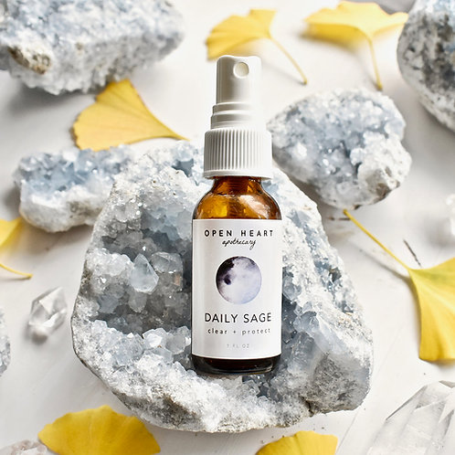 Daily Sage Essential Oil Spritzer by Open Heart Apothecary