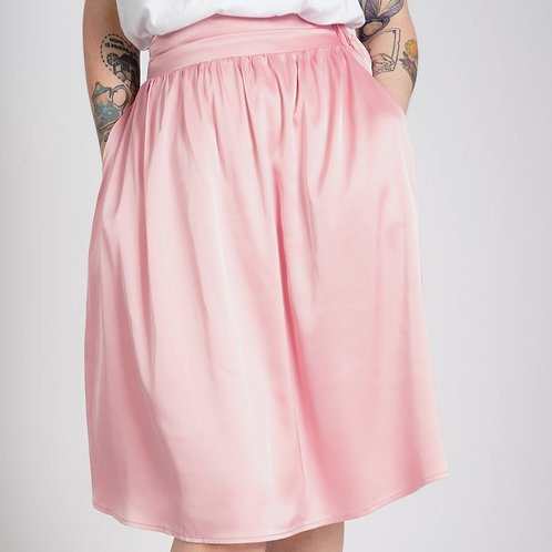 'Sally' Elastic Skirt with Pockets by Kintsugi