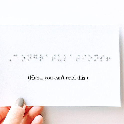"""Pack of 3 """"Congratulations!"""" Braille Humor Cards by Inclusive Greetings"""