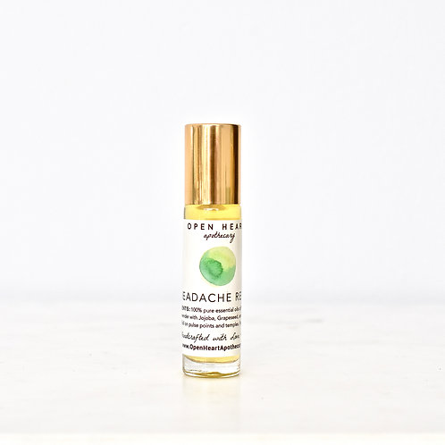 Headache Essential Oil Relief Roll On by Open Heart Apothecary