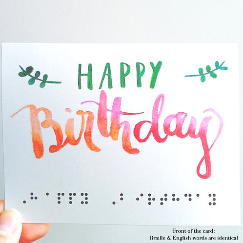 "Pack of 3 ""Happy Birthday"" Braille Cards by Inclusive Greetings"
