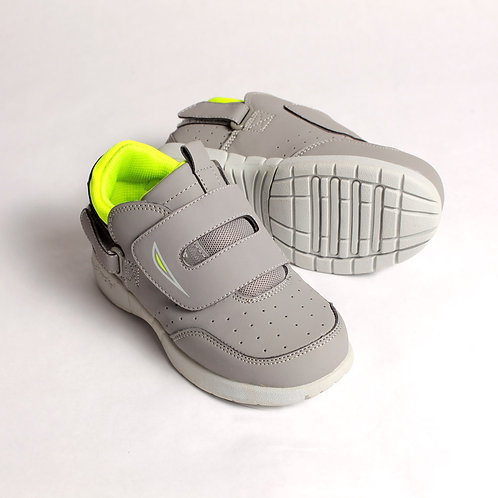 Eclipse Kids Shoe - Gray/Lime Green by Hatchbacks