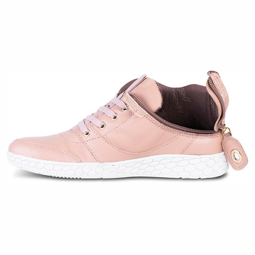 Women's Medimoto Rose Gold Leather Shoe by Friendly Shoes