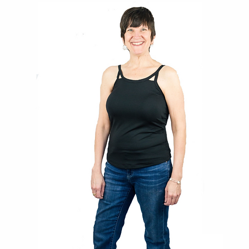 Cut Out Mastectomy Camisole with Built-In Breast Prosthetics by Complete Shaping