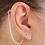 Thumbnail: CZ Pierced Stud Earring 14K White Gold (For Hearing Aids)