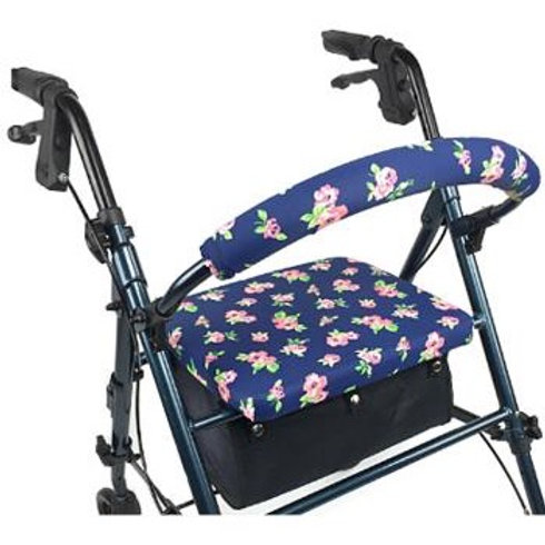 Pink Petite Floral Rollator Walker Covers Set by Crutcheze