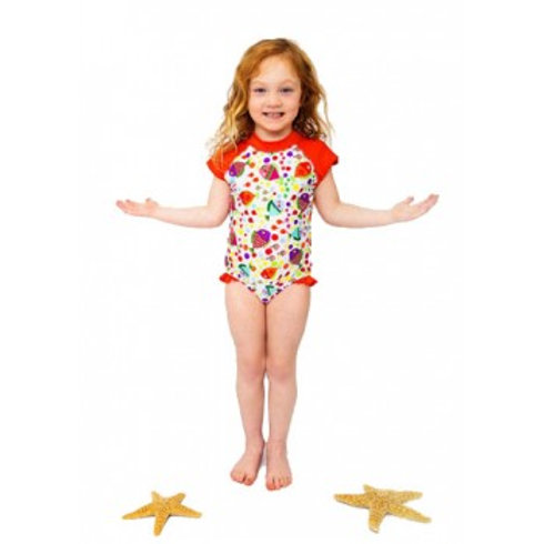 Lucy Fish Snap Bathing Suit by Kozie Clothes
