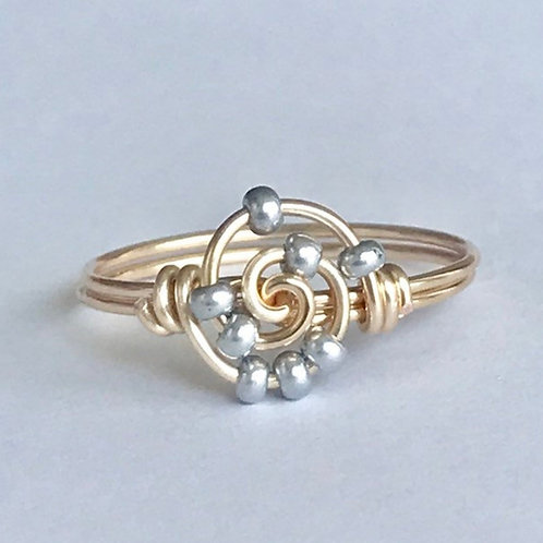 Inside Spiral Fidget Ring by Aiden and Audrey