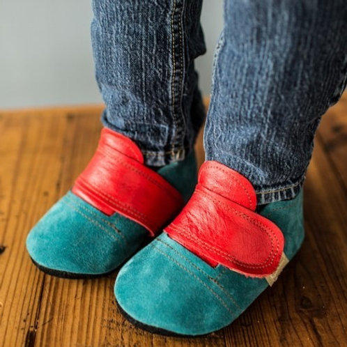 Red and Blue Super Sneakers by Shoes for AFO's by Gracious May