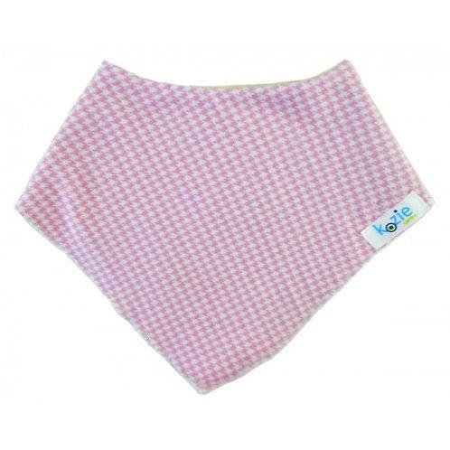 Pink Herringbone Neck Bandanna by Kozie Clothes