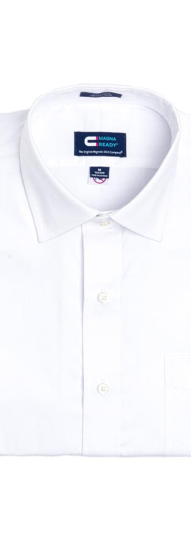 White Magnetic Closures Dress Shirt