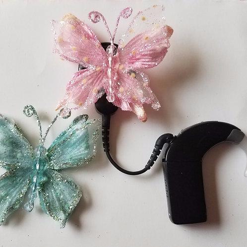 Blue + Pink Butterflies Cochlear Cuties