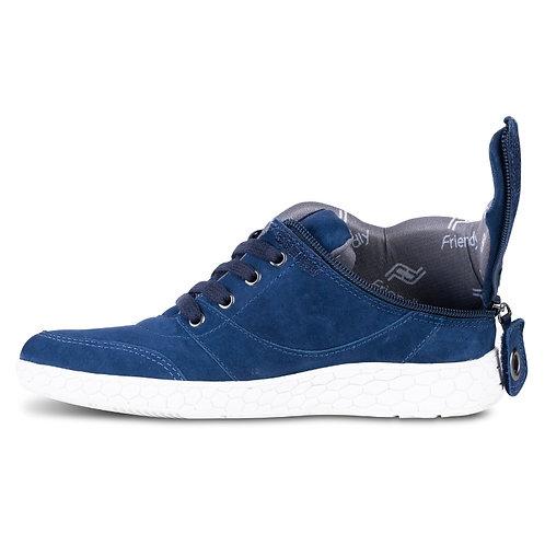 Women's Medimoto Blue Suede Shoe by Friendly Shoes