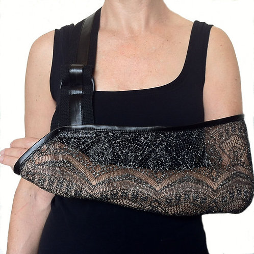 Silver Shimmer Arm Sling by Not Blue Designs