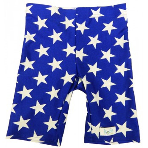 Star Spangled Sensory Compression Shorts by Kozie Clothes