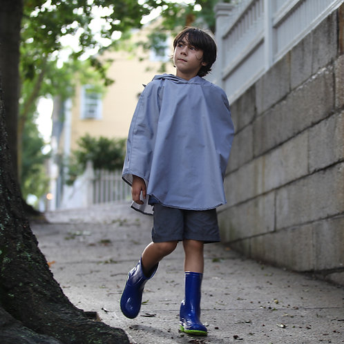 Cleverkid Rain Cape | Electric Gingham by Cleverhood