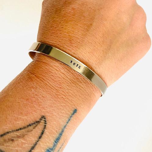 Vote Cuff Bracelet by Lux + Luca Jewelry Co