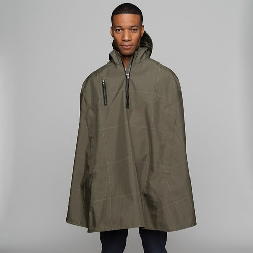 Electric Glen Rain Cape by Cleverhood