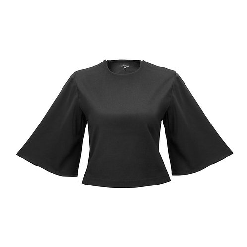 'Frances' Port-Access Top with Soft Sleeves by Kintsugi