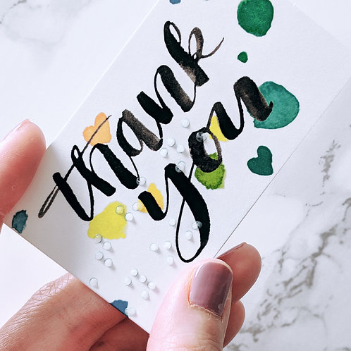 "Pack of 5 ""Thank You"" Braille Small Cards by Inclusive Greetings"