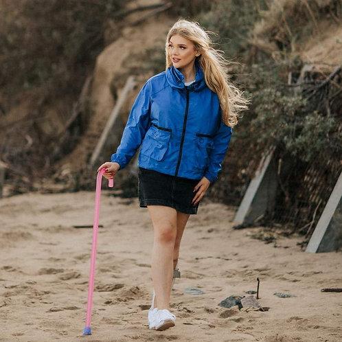'Sophie' Windbreaker Jacket with Ring Pull Zip by Kintsugi