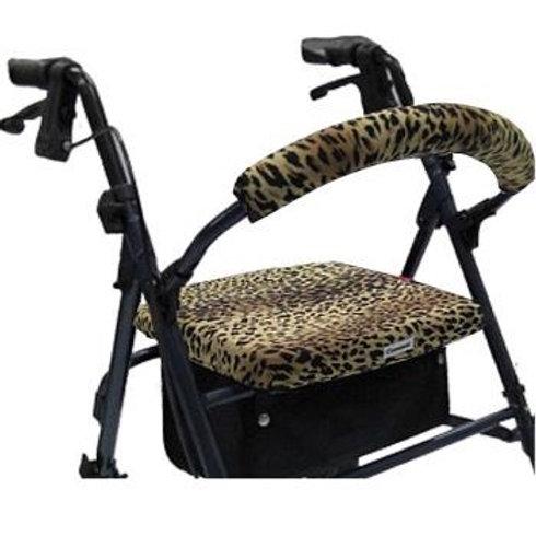 Leopard Rollator Walker Covers Set by Crutcheze