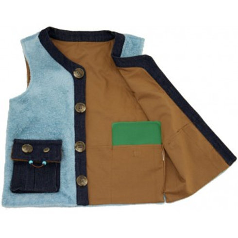 Unisex Denim Weighted Vest by Kozie Clothes