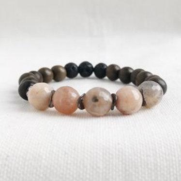 Sunstone Essential Oil Diffuser Bracelet by Essential Adornment