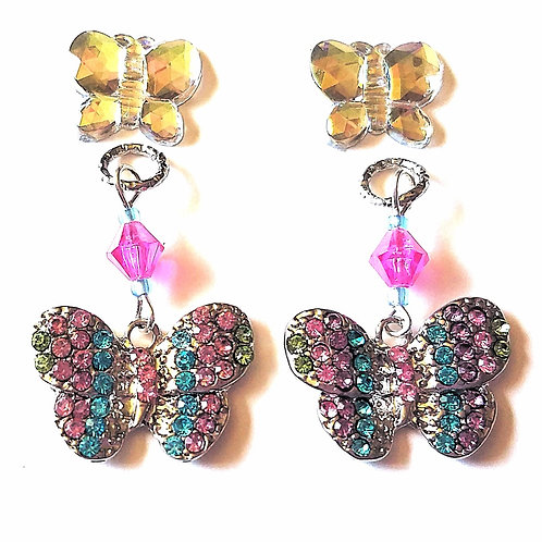 Fluttering Butterfly Charms + Tube Trinkets by Purple Cat Aid Charms