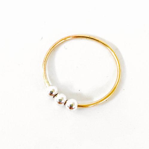 Yang Orbitz Fidget Ring by Lux + Luca Jewelry Co