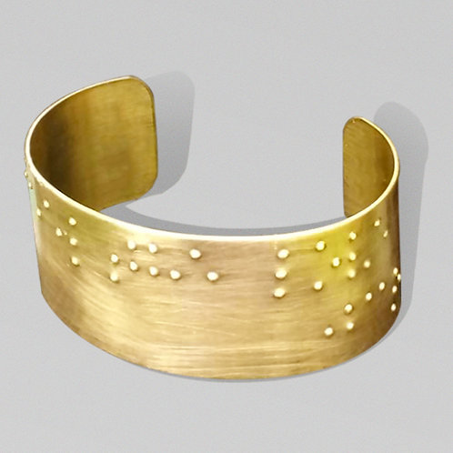 """Feel the Love"" Braille Printed Cuff Bracelet by 'Braille'iant"
