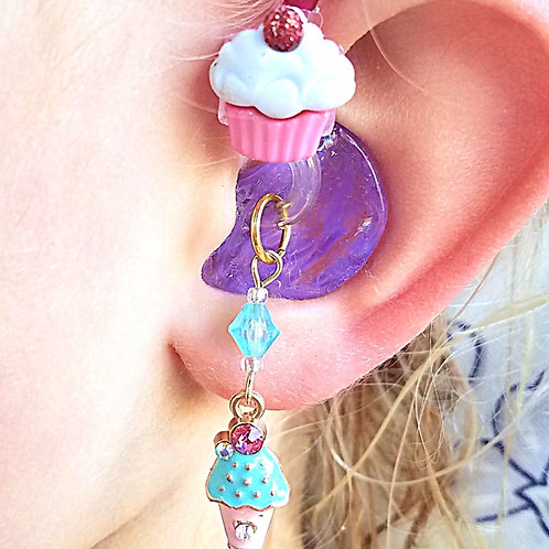 Sweet Treats Hearing Aid Charms + Tube Trinkets by Purple Cat Aid Charms