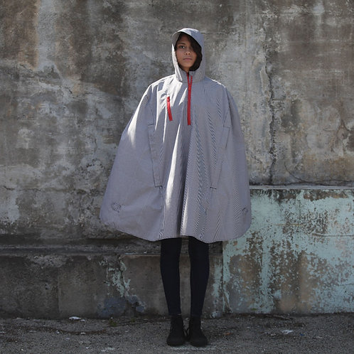 Electric Gingham Rain Cape by Cleverhood