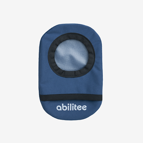 Navy with Black Trim Ostomy Cover by Abilitee Adaptive Wear