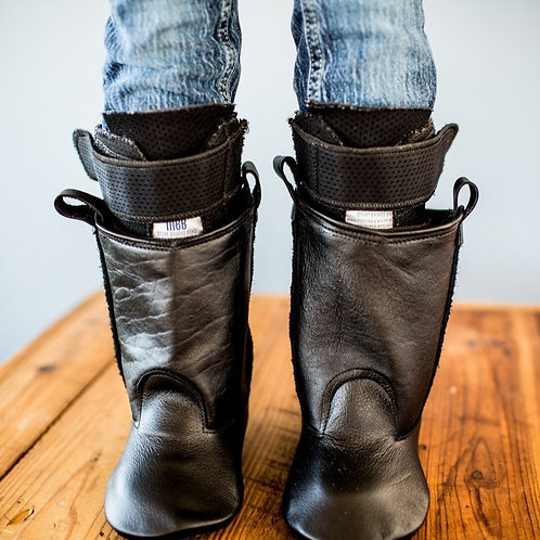 Black Leather Western Boots by Shoes for AFO's by Gracious May