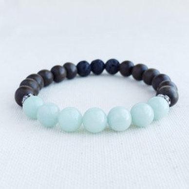 Amazonite Essential Oil Diffuser Bracelet by Essential Adornment