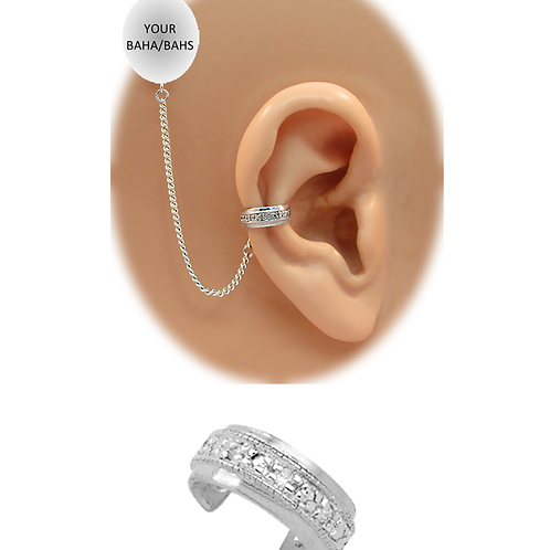 """""""CZ Band"""" 14K White Gold Ear Cuff (For BAHS) by HearClip"""
