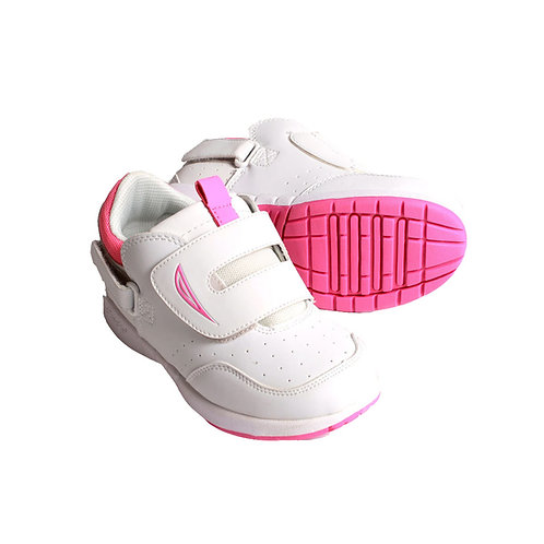 Eclipse Kids Shoe - White/Hot Pink by Hatchbacks