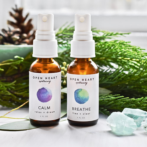 Essential Oil Spritzer Duo Set by Open Heart Apothecary