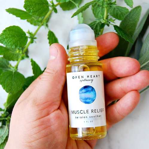 Muscle Relief Roll On by Open Heart Apothecary
