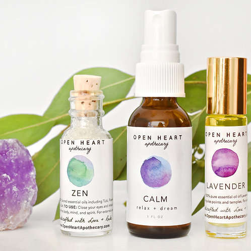 Peace of Mind Essential Oil Set by Open Heart Apothecary